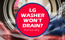 lg washer not draining water