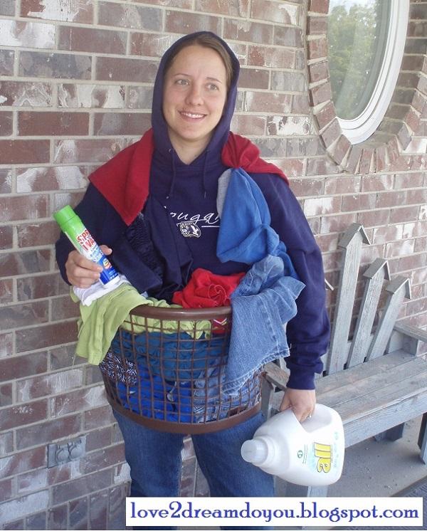 laundry basket costume